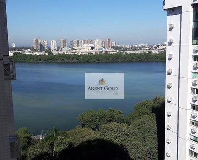 Barra Da Tijuca, Península Green Garden, Andar Alto, Apartamento Composto Por Varanda, Sala 02 Ambientes, Lavabo, 02 Dormitórios Com 01 Suíte. - Ap1381