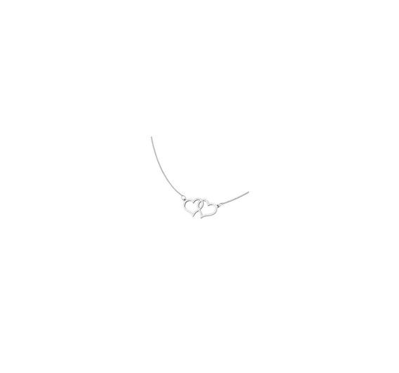 Gargantilha De Corações Gravação 45cm Florenzza Prata 950