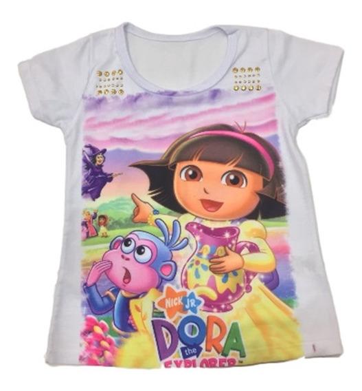 15 Camiseta Blusa Infantil Feminina Roupa Menina Atacado