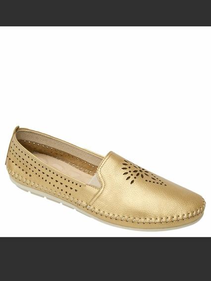 Zapato Para Dama Color Dorado Marca Flexi #7