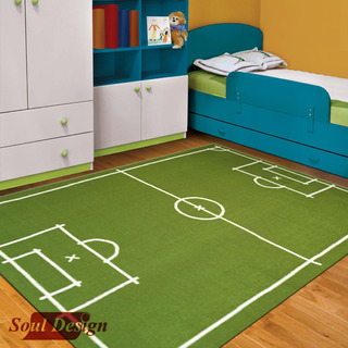 Carpeta Alfombra Cancha Futbol 140 X 200 Cm Infantil Soul