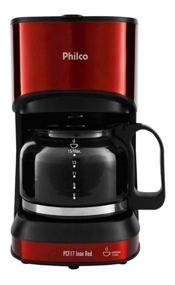 Cafeteira Inox Red Pcf17 Vermelha Philco