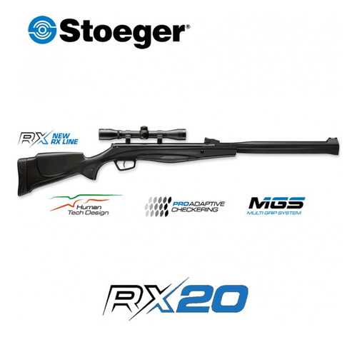 Rifle Stoeger Rx20 S3 Supressor 5.5mm Mira 3-9x40 Accesorios