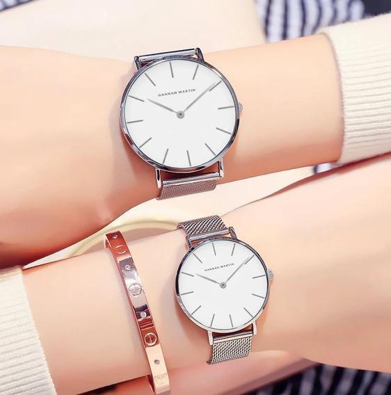 Relógio Pulso Hannah Martin - Love Watch Casal Luxo