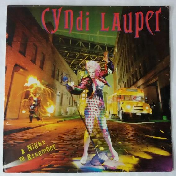 Lp - Cyndi Lauper - A Night To Remember - 1989 -epic