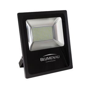 Refletor Blumenau Led Slim Preto 100w 6000k Bivolt