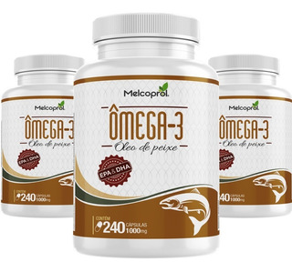 Omega 3 Oleo Peixe 1000mg 720cáps Dha Epa Melcoprol Promoção