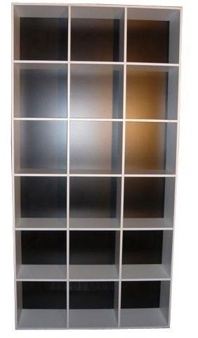 Imagen 1 de 4 de Biblioteca Maxi-organizador En Melamina Blanca 18 Cubos