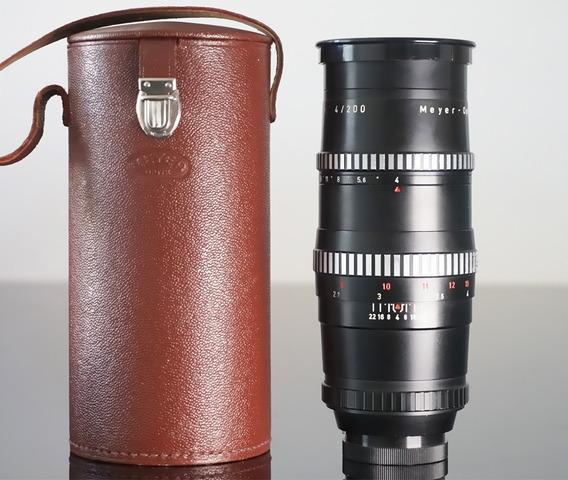 Lente Meyer Orestegor 200mm\15lamin + Adapt Sony E-mount-nex