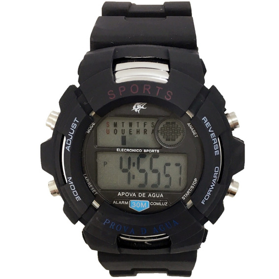 Relógio Masculino Digital Promoção Pulseira Borracha Preto