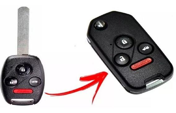Chave Canivete Honda New Civic - Exs - 3 Botões + Pânico