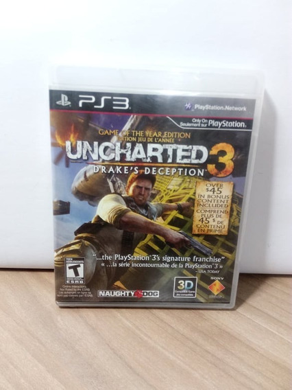 Uncharted 3 Game Of The Year Edition Ps3 Usado