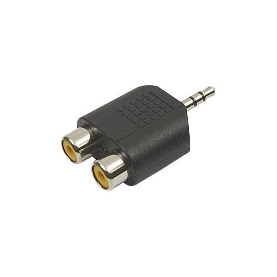 Kit 5 Unid Adaptador Stereo P2 Macho P/ 2 Rca Femea 003-6100