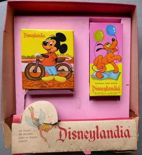 Disney Perfume Y Jabon Ada Mickey Disneylandia Antiguo