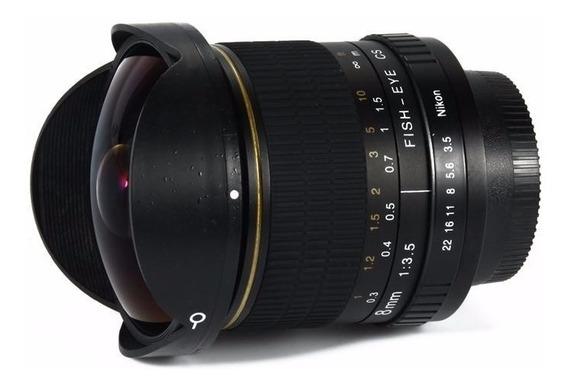 Lente Kelda 8mm F3.5 Olho De Peixe Para Nikon Manual