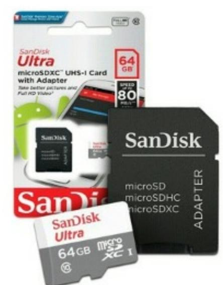 Cartão De Memória Original Ultra 64 Gb Micro Sd Classe 10
