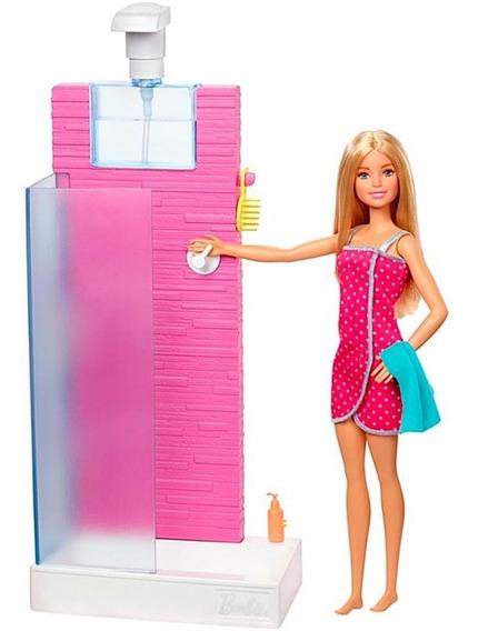 Barbie Playset Chuveiro Com Acessórios Mattel