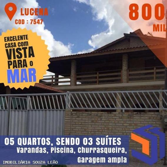 Casa Para Venda Em Lucena, Centro, 5 Dormitórios, 3 Suítes, 3 Banheiros, 6 Vagas - 7547_1-844301