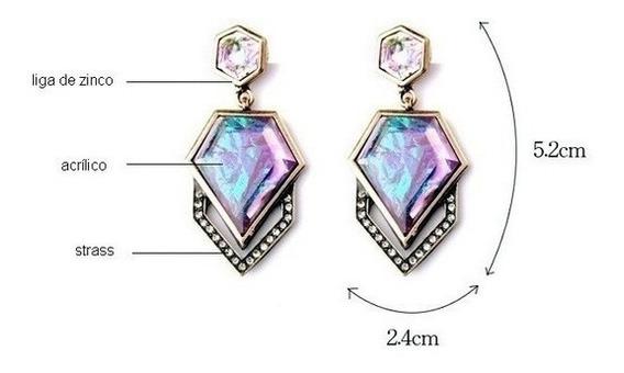 Brinco Diamante Holográfico