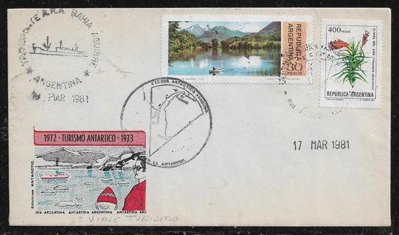 Antártida Argentina Turismo Antártico´73 Sobre Color De 1981