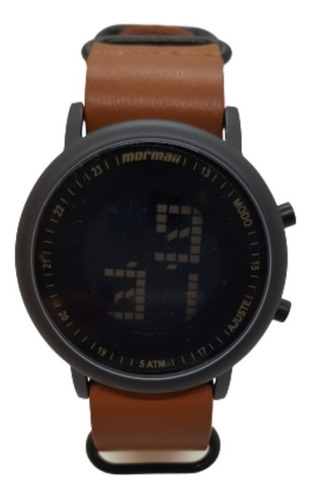 Relógio Masculino Preto/ Marrom Mormaii