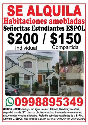 Alquiler Habitaciones Amobladas