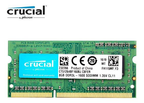 Crucial Ram Ddr3l 1600 Mhz Sodimm 8 Gb 12800s 1,35v Notebook