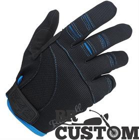 Luva Biltwell Moto Gloves Preta/azul/hd/old/custom