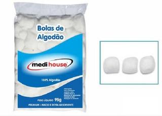 Algodão Em Bolas Premium 95g 05 Pacotes Medi House