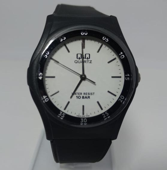 Relógio Q&q By Citizen Preto Fundo Branco Vq04j002y