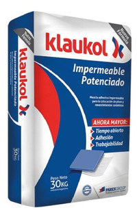 Pegamento Klaukol Impermeable Potenciado Ceramico X 30kg