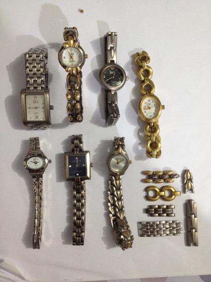 Lote Relógios De Pulso Dumont Seculus E Outros Originais