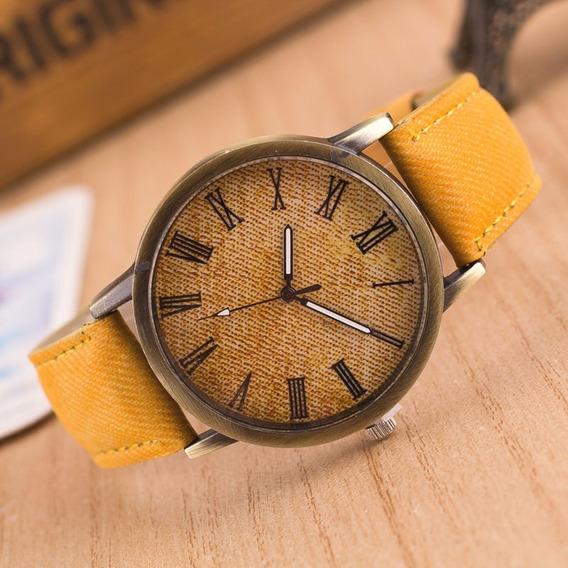 Relógio De Pulso Jeans Menino Menina Criança Adolescente 161