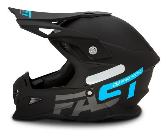 Capacete Motocross Pro Tork Fast Solid Masculino Lançamento