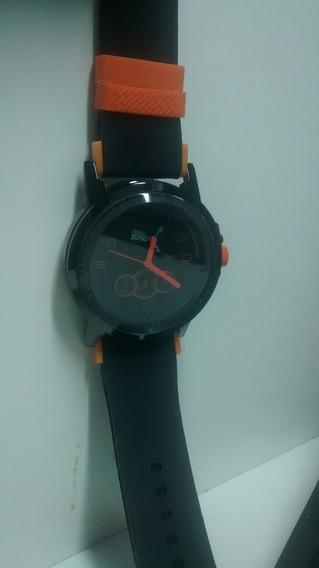 Relógio Masculino Puma Preto Com Laranja Primeira Linha