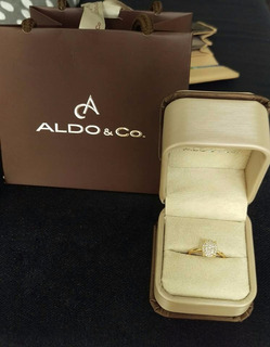 Anillo Compromiso O Lujo Oro 18k Diamantes Comprado En $1500