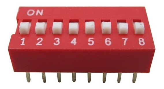 Dip Switch 8 Posiciones Interruptores Arduino X 5 Unidades