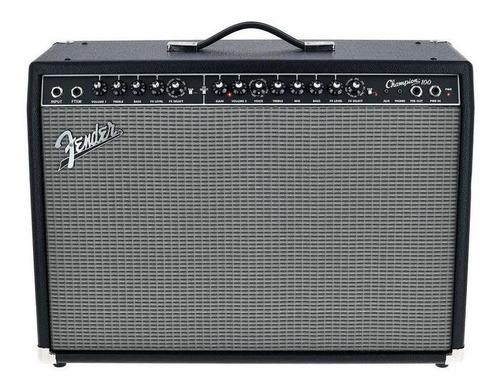 Amplificador Fender Champion Series 100 Combo Valvular 100W negro y plata 220V