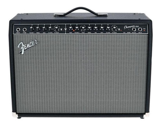 Amplificador Fender Champion Series 100 Transistor 100W negro y plata 220V