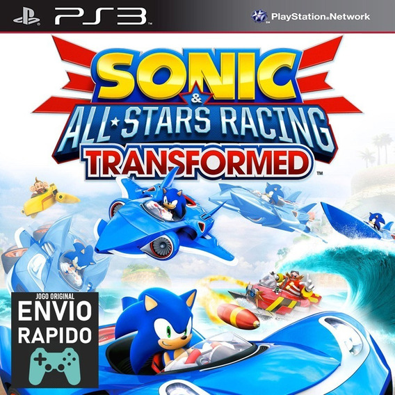 Sonic & All-stars Racing Transformed - Jogos Ps3 Play 3