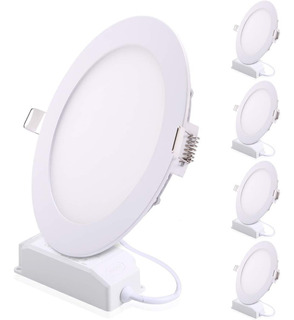 Panel Led 6w Incrustar Luz Blanca Pack X 5 Uni Certificadas