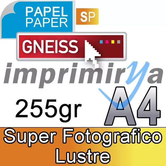 Papel Fotografico Luster 255g Gneiss A4 X 20 Hojas