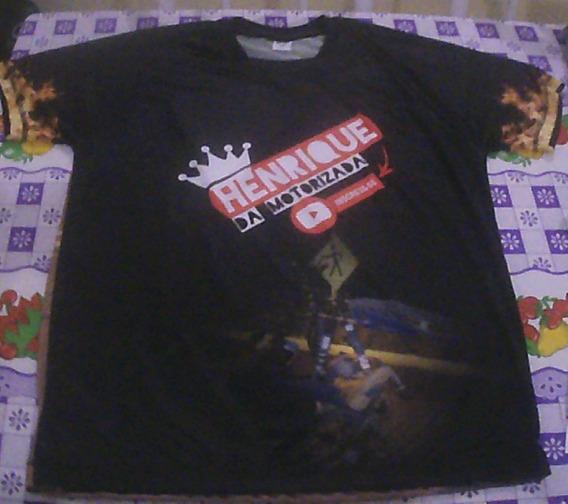 Camiseta Henrique Da Motorizada Manga Curta Masculino