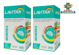 Kit 2 Caixas Lavitan Memória 60 Comprimidos Ideal Estudantes