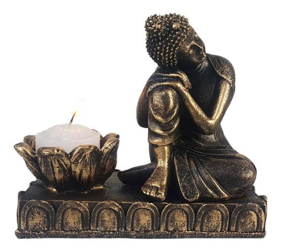 Buda Hindu Tailandês Castiçal Ou Incensário Decoração Resina