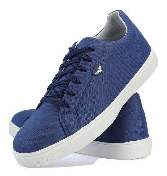 Tenis Sapatenis Casual Jogger Lifestyle Azul Jogging Dhl