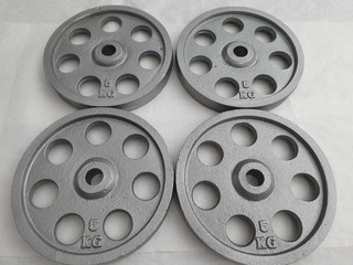 Kit 20 Kg Incluye 4 Discos De 5 Kg C/u!! 1 Pulgada Estandar
