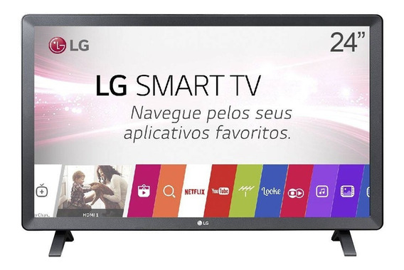 Monitor Smart Tv Led 24 Lg 24tl520s Conversor Digita Hdm Usb