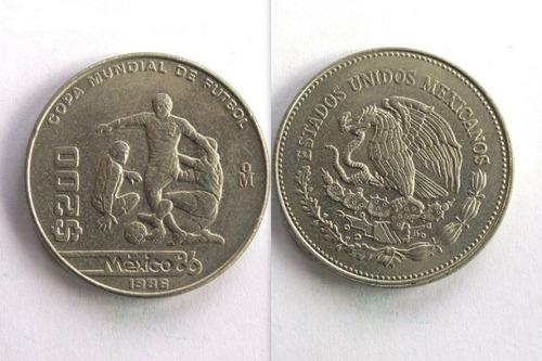 Moneda 200 Pesos México 86 Copa Mundial De Futbol 1986