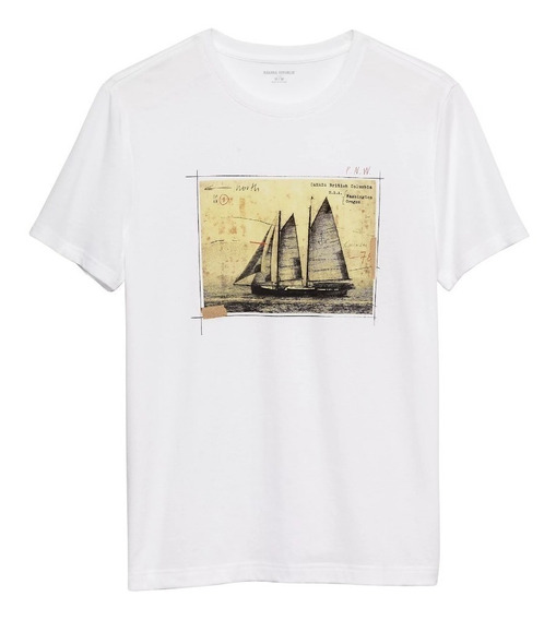 Remera Banana Republic | Graphic Tee | Sailboat Frame | Usa